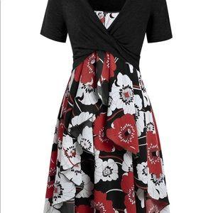 Plus size Floral Cami dress w/ crop top